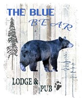 The Blue Bear Fine Art Print