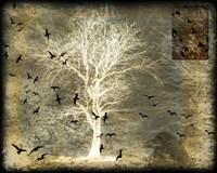 A Raven's World Spirit Tree Framed Print