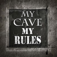 Welcome To Man Cave My Rules Fine Art Print