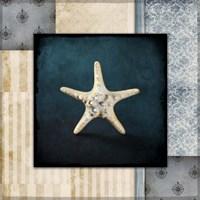 Blue Sea Bumpy Star Fine Art Print