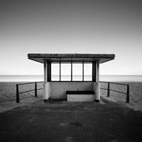 Beach Shelter Fine Art Print