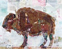 El Buffalo Brown Crop Fine Art Print