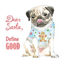 Glamour Pups Christmas IV Fine Art Print