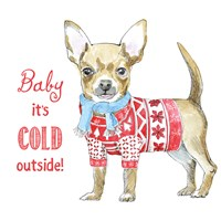 Glamour Pups Christmas I Fine Art Print