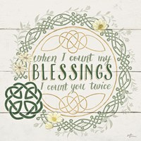 Irish Blessing II Fine Art Print