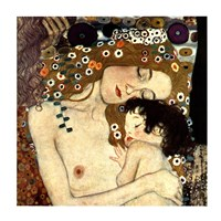 Three Ages of Woman - Mother and Child, c.1905 (detail square) Fine Art Print