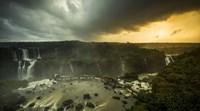Devil's Throat Falls Under Stormy Skies, Brazil Fine Art Print