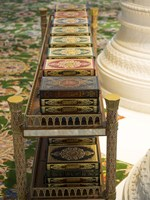 Korans at Sheikh Zayed Bin Sultan Al Nahyan Grand Mosque, Abu Dhabi Fine Art Print