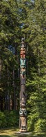 Totem Pole in Forest, Sitka, Southeast Alaska Fine Art Print