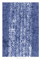 Indigo Primitive Patterns V Fine Art Print