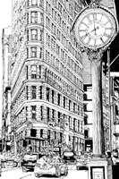 B&W City Scene VII Fine Art Print