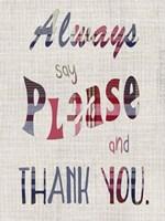 Manners I Framed Print