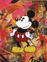 Happy Mickey Fine Art Print