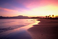 Beach sunset, Nadi, Fiji Fine Art Print