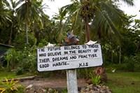 Sign, Kioa Island,  Fiji Fine Art Print