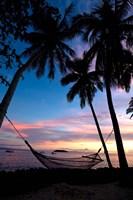 Sunset at Garden Island Resort, Taveuni, Fiji Fine Art Print