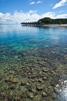 View of Likuliku Lagoon Resort, Malolo Island, Fiji Fine Art Print