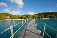 Pier at Likuliku Lagoon Resort, Malolo Island, Fiji Fine Art Print