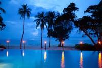 Torches at Yasawa Island Resort and Spa, Fiji Fine Art Print