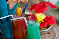 Cocktails, Matangi Private Island Resort, Fiji Fine Art Print