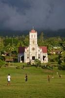 Close up of Taveuni Waiyavo Catholic Church, Fiji Fine Art Print