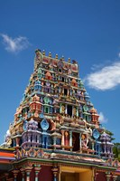 Close up of Sri Siva Subramaniya Swami Temple, Viti Levu, Fiji Fine Art Print