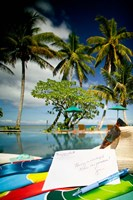 Poolside, Beqa Lagoon Resort, Beqa Island, Fiji Fine Art Print