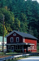 Railroad Depot in West Cornwall, Litchfield Hills, Connecticut Fine Art Print