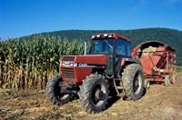 Tractor and Corn Field in Litchfield Hills, Connecticut Fine Art Print