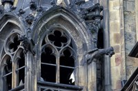 Castle Window and Gargoyle, Prague, Czech Republic Fine Art Print
