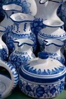 Slovakia, Bratislava, souvenir pottery Fine Art Print