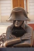 Slovakia, Bratislava, Bronze Napoleon statue Fine Art Print
