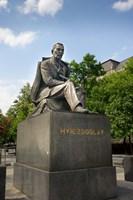 Slovakia, Bratislava, statue of Hviezdoslav Fine Art Print