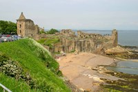 Coastline Beach and Ruins of St Andrews, Scotland Fine Art Print