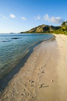 White sandy beach, Oarsman Bay, Yasawa, Fiji, South Pacific Fine Art Print