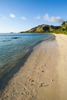 White sandy beach, Oarsman Bay, Yasawa, Fiji, South Pacific Fine Art Print
