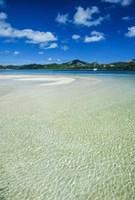 Turquoise water at the Nanuya Lailai island, the blue lagoon, Yasawa, Fiji, South Pacific Fine Art Print
