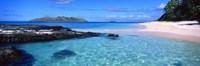 Island in the sea, Veidomoni Beach, Fiji Fine Art Print