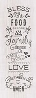 Food, Family, Love Fine Art Print