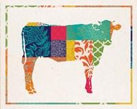 Boho Cow Fine Art Print
