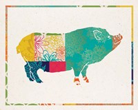 Boho Pig Fine Art Print