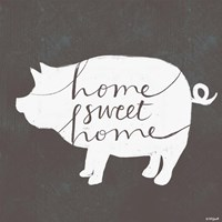 Home Sweet Home Pig Fine Art Print