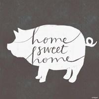 Home Sweet Home Pig Fine Art Print