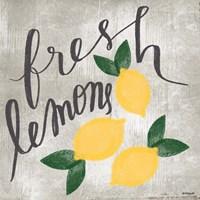 Fresh Lemons Fine Art Print