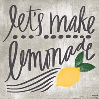 Let's Make Lemonade Framed Print