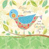 Believe Bird Framed Print