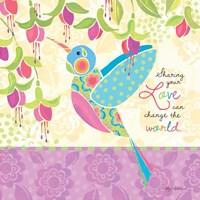 Sharing Hummingbird Framed Print