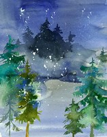 Watercolor Winter Fine Art Print
