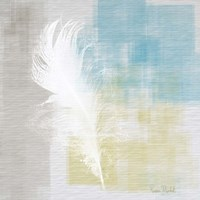 White Feather Abstract I Fine Art Print