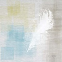 White Feather Abstract II Fine Art Print